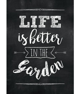 Life is better in the garden - Black